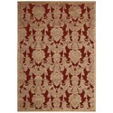 "Nourison Graphic Illusions 2'3"" x 3'9"" Red Rectangle Rug - Item Number: GIL03 RED 23X39"