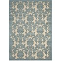 "Nourison Graphic Illusions 7'9"" x 10'10"" Teal Rectangle Rug - Item Number: GIL03 TL 79X1010"