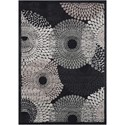 """Nourison Graphic Illusions 5'3"""" x 7'5"""" Black Rectangle Rug - Item Number: GIL04 BLK 53X75"""