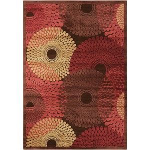 "Nourison Graphic Illusions 3'6"" x 5'6"" Brown Rectangle Rug"