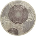 """Nourison Graphic Illusions 5'3"""" x 5'3"""" Grey Round Rug - Item Number: GIL04 GRY 53X53"""