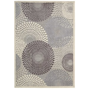 "Nourison Graphic Illusions 5'3"" x 7'5"" Grey Rectangle Rug"