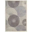 """Nourison Graphic Illusions 6'7"""" x 9'6"""" Grey Rectangle Rug - Item Number: GIL04 GRY 67X96"""