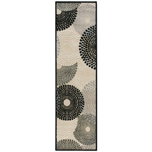 "Nourison Graphic Illusions 2'3"" x 8' Parchment Runner Rug"