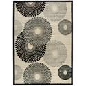 "Nourison Graphic Illusions 7'9"" x 10'10"" Parchment Rectangle Rug - Item Number: GIL04 PARCH 79X1010"