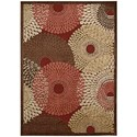"""Nourison Graphic Illusions 3'6"""" x 5'6"""" Red Rectangle Rug - Item Number: GIL04 RED 36X56"""