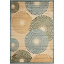 "Nourison Graphic Illusions 3'6"" x 5'6"" Teal Rectangle Rug - Item Number: GIL04 TL 36X56"