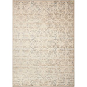 "Nourison Graphic Illusions 3'6"" x 5'6"" Beige/Sand Rectangle Rug"