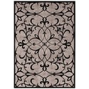 """Nourison Graphic Illusions 3'6"""" x 5'6"""" Black Rectangle Rug - Item Number: GIL05 BLK 36X56"""