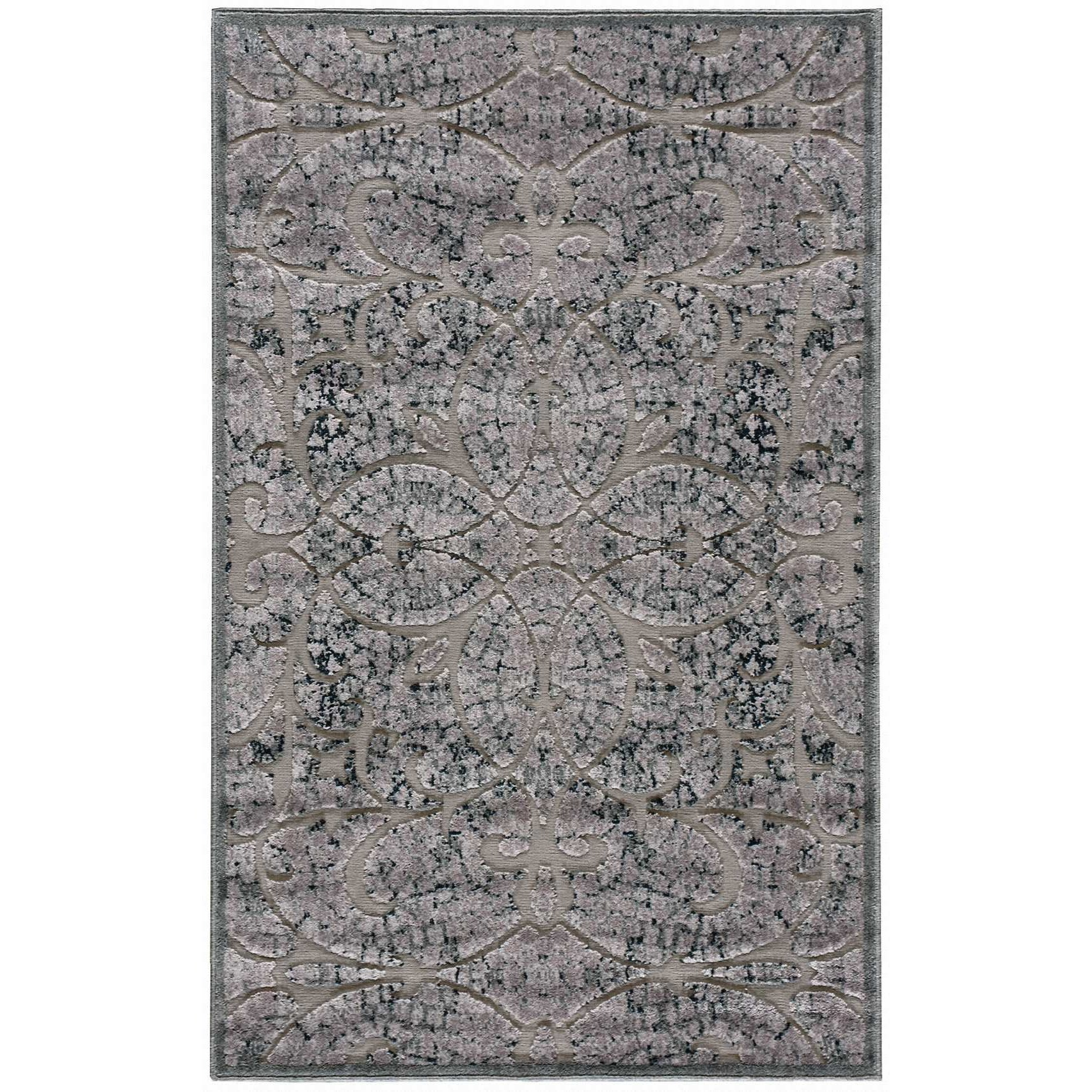 """Nourison Graphic Illusions 3'6"""" x 5'6"""" Grey Rectangle Rug - Item Number: GIL05 GRY 36X56"""