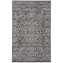 "Nourison Graphic Illusions 3'6"" x 5'6"" Grey Rectangle Rug - Item Number: GIL05 GRY 36X56"