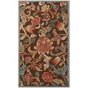 "Nourison Graphic Illusions 2'3"" x 3'9"" Brown Rectangle Rug - Item Number: GIL06 BRN 23X39"