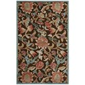 "Nourison Graphic Illusions 3'6"" x 5'6"" Brown Rectangle Rug - Item Number: GIL06 BRN 36X56"