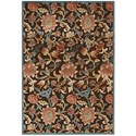 """Nourison Graphic Illusions 5'3"""" x 7'5"""" Brown Rectangle Rug - Item Number: GIL06 BRN 53X75"""