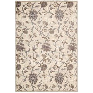 "Nourison Graphic Illusions 5'3"" x 7'5"" Ivory Rectangle Rug"