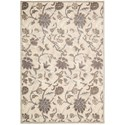 """Nourison Graphic Illusions 5'3"""" x 7'5"""" Ivory Rectangle Rug - Item Number: GIL06 IV 53X75"""