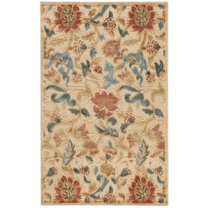 """Nourison Graphic Illusions 3'6"""" x 5'6"""" Light Gold Rectangle Rug"""