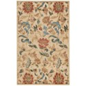 """Nourison Graphic Illusions 3'6"""" x 5'6"""" Light Gold Rectangle Rug - Item Number: GIL06 LGD 36X56"""