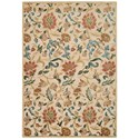 """Nourison Graphic Illusions 5'3"""" x 7'5"""" Light Gold Rectangle Rug - Item Number: GIL06 LGD 53X75"""