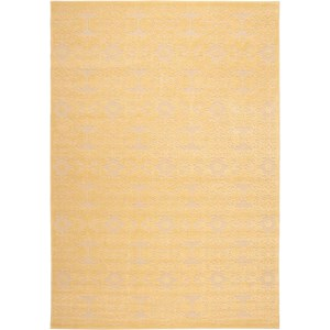 "Nourison Graphic Illusions 3'6"" x 5'6"" Yellow 605 Rectangle Rug"
