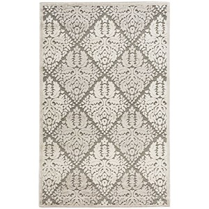 "Nourison Graphic Illusions 3'6"" x 5'6"" Ivory Rectangle Rug"