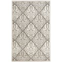 """Nourison Graphic Illusions 3'6"""" x 5'6"""" Ivory Rectangle Rug - Item Number: GIL08 IV 36X56"""