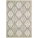 """Nourison Graphic Illusions 5'3"""" x 7'5"""" Ivory Rectangle Rug - Item Number: GIL08 IV 53X75"""