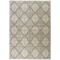 "Nourison Graphic Illusions 7'9"" x 10'10"" Ivory Rectangle Rug - Item Number: GIL08 IV 79X1010"