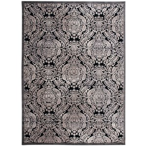 "2'3"" x 3'9"" Black Rectangle Rug"