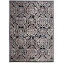 "Nourison Graphic Illusions 3'6"" x 5'6"" Black Rectangle Rug - Item Number: GIL09 BLK 36X56"