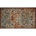 """Nourison Graphic Illusions 2'3"""" x 3'9"""" Chocolate Rectangle Rug - Item Number: GIL09 CHO 23X39"""