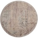 """Nourison Graphic Illusions 5'3"""" x 5'3"""" Grey Round Rug - Item Number: GIL09 GRY 53X53"""