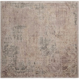 "6'7"" x 6'7"" Grey Square Rug"