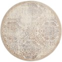 """Nourison Graphic Illusions 5'3"""" x 5'3"""" Ivory Round Rug - Item Number: GIL09 IV 53X53"""