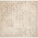 "Nourison Graphic Illusions 6'7"" x 6'7"" Ivory Square Rug - Item Number: GIL09 IV 67X67"