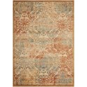 """Nourison Graphic Illusions 5'3"""" x 7'5"""" Light Gold Rectangle Rug - Item Number: GIL09 LGD 53X75"""