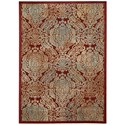"Nourison Graphic Illusions 5'3"" x 7'5"" Red Rectangle Rug - Item Number: GIL09 RED 53X75"