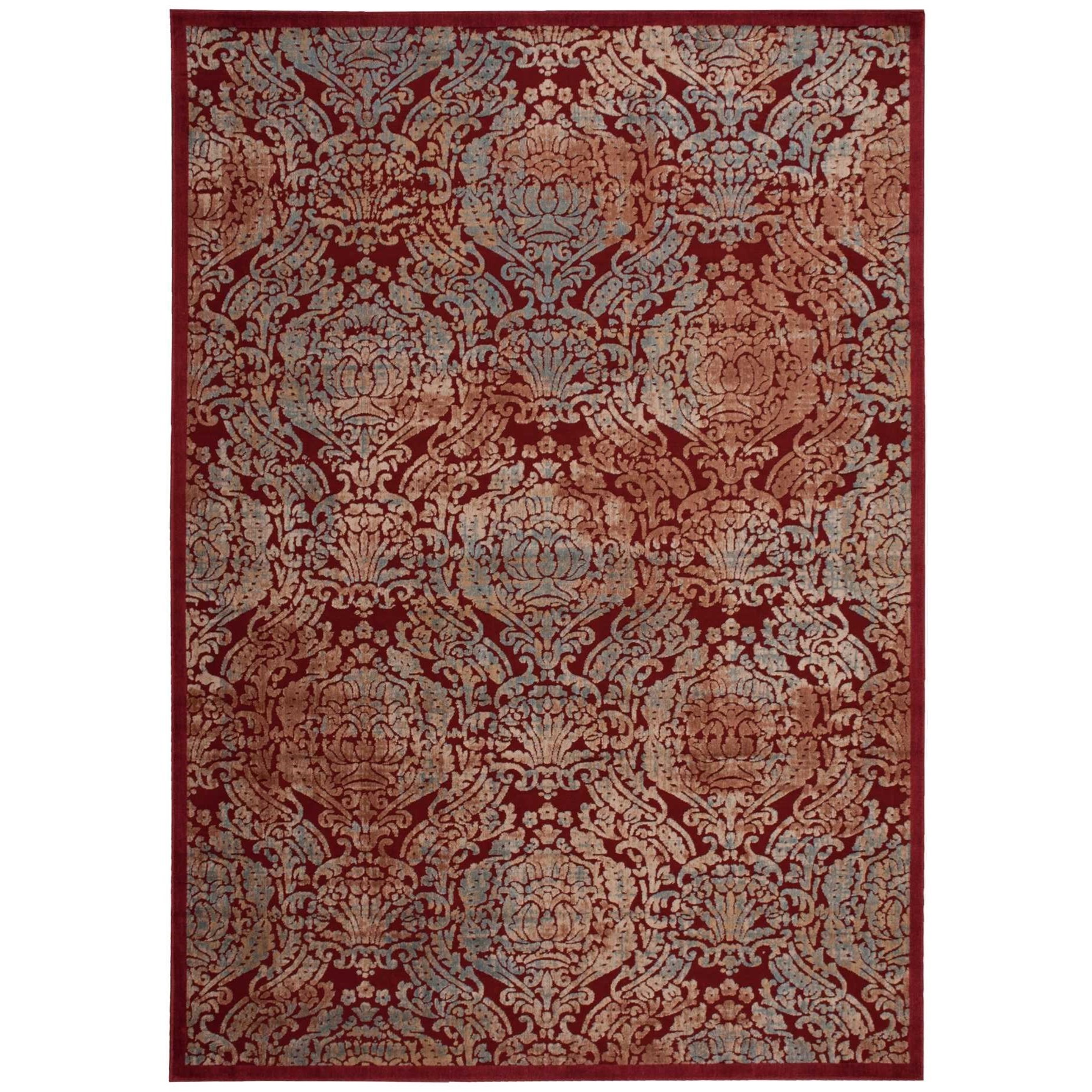 """7'9"""" x 10'10"""" Red Rectangle Rug"""