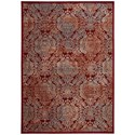 "Nourison Graphic Illusions 7'9"" x 10'10"" Red Rectangle Rug - Item Number: GIL09 RED 79X1010"