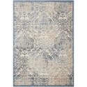 """Nourison Graphic Illusions 5'3"""" x 7'5"""" Sky Rectangle Rug - Item Number: GIL09 SKY 53X75"""