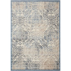 "Nourison Graphic Illusions 7'9"" x 10'10"" Sky Rectangle Rug"