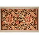 "Nourison Graphic Illusions 2'3"" x 3'9"" Brown Rectangle Rug - Item Number: GIL10 BRN 23X39"