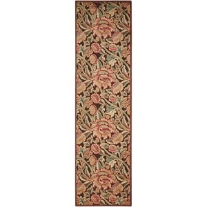 "Nourison Graphic Illusions 2'3"" x 8' Brown Runner Rug"