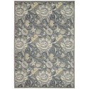 """Nourison Graphic Illusions 5'3"""" x 7'5"""" Grey Rectangle Rug - Item Number: GIL10 GRY 53X75"""