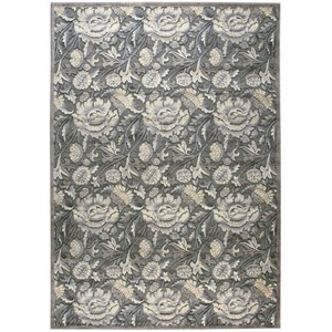 "7'9"" x 10'10"" Grey Rectangle Rug"