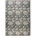 """Nourison Graphic Illusions 7'9"""" x 10'10"""" Grey Rectangle Rug - Item Number: GIL10 GRY 79X1010"""
