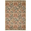 "Nourison Graphic Illusions 5'3"" x 7'5"" Light Gold Rectangle Rug - Item Number: GIL10 LGD 53X75"