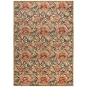"""Nourison Graphic Illusions 7'9"""" x 10'10"""" Light Gold Rectangle Rug - Item Number: GIL10 LGD 79X1010"""