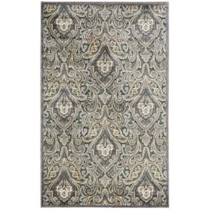 "Nourison Graphic Illusions 3'6"" x 5'6"" Grey Rectangle Rug"