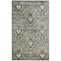 "Nourison Graphic Illusions 3'6"" x 5'6"" Grey Rectangle Rug - Item Number: GIL11 GRY 36X56"